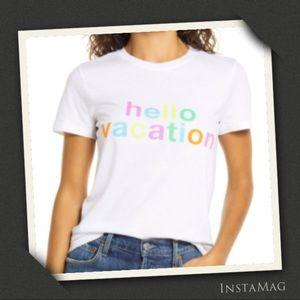 1901 HELLO VACATION Short Sleeve T-Shirt
